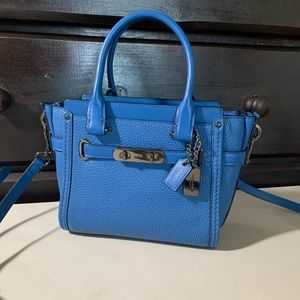 Coach Swagger Pebble Leather Satchel Crossbody